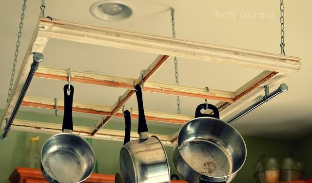 9. Hanging Pot Rack by simpome.com .