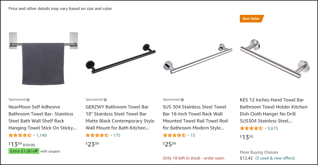Towel bar by Amazon from Simphome.com