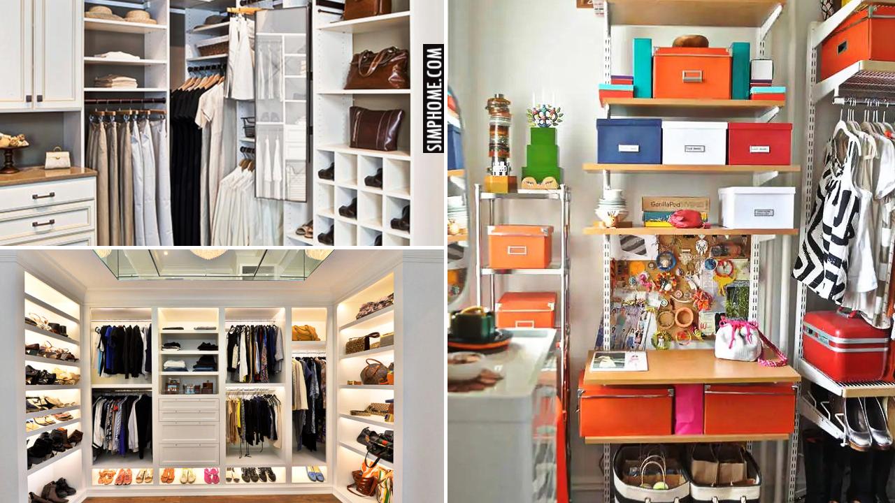 10 Bedroom CLoset Remodel Ideas via Simphome.comThumbnail