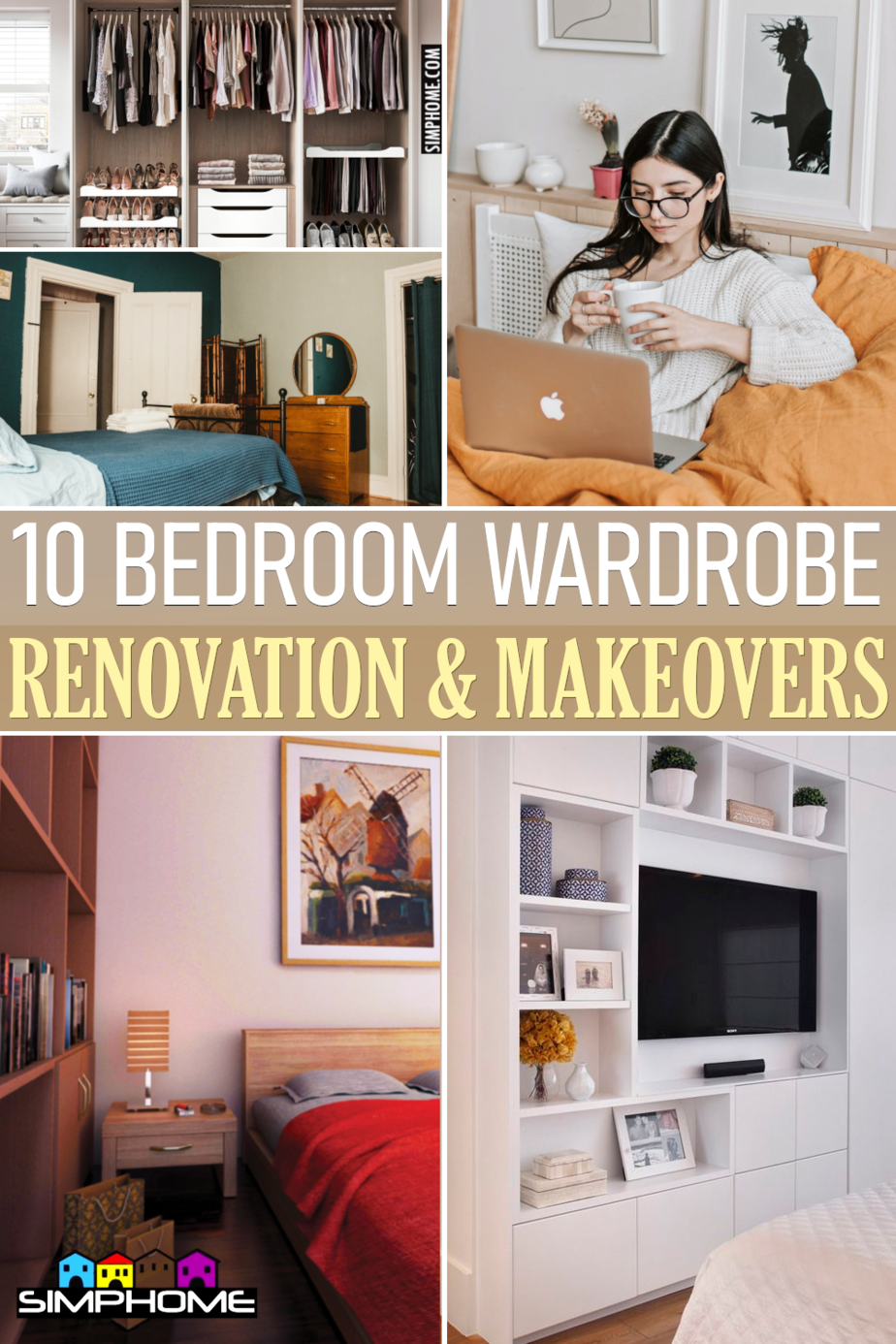 10 Bedroom Wardrobe Renovation ideas via Simphome.comFeatured
