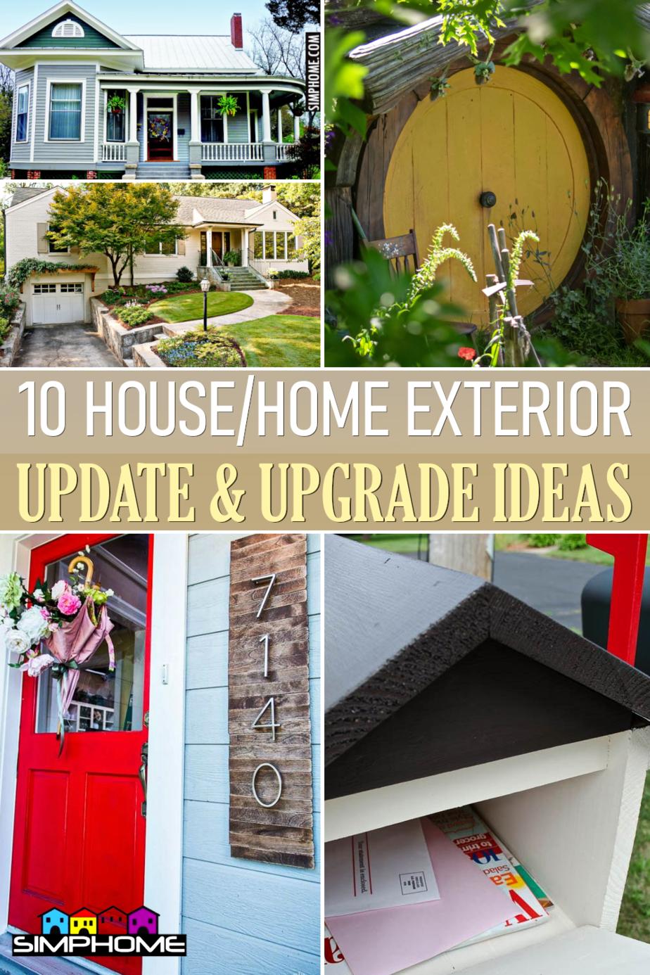 10 Exterior Update Ideas via Simphome.comFeaturedl