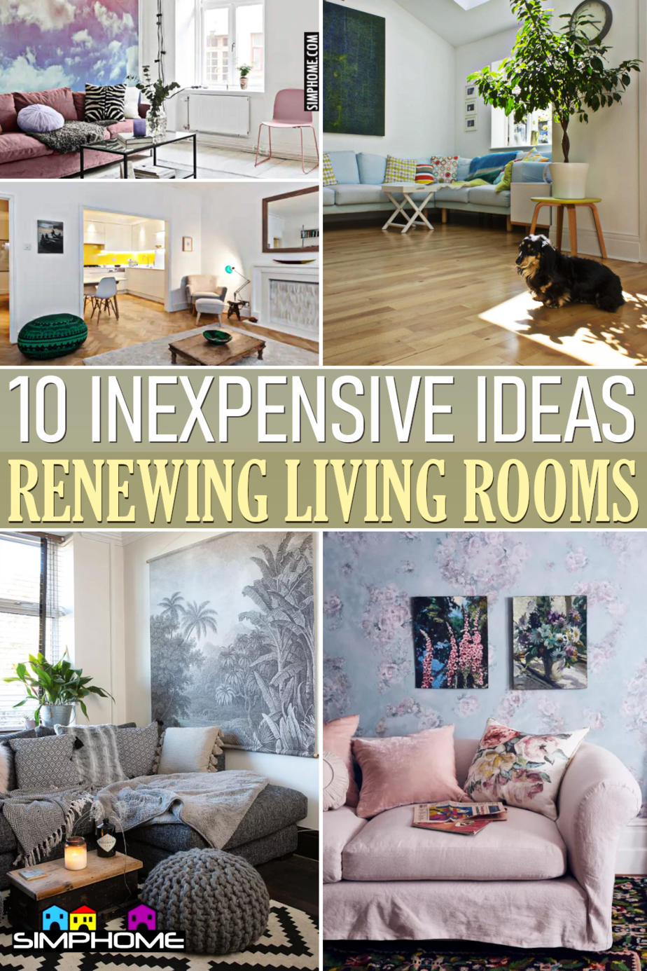 10 Inexpensive Ways to Renew Your Living Room via Simphome.comFeatured