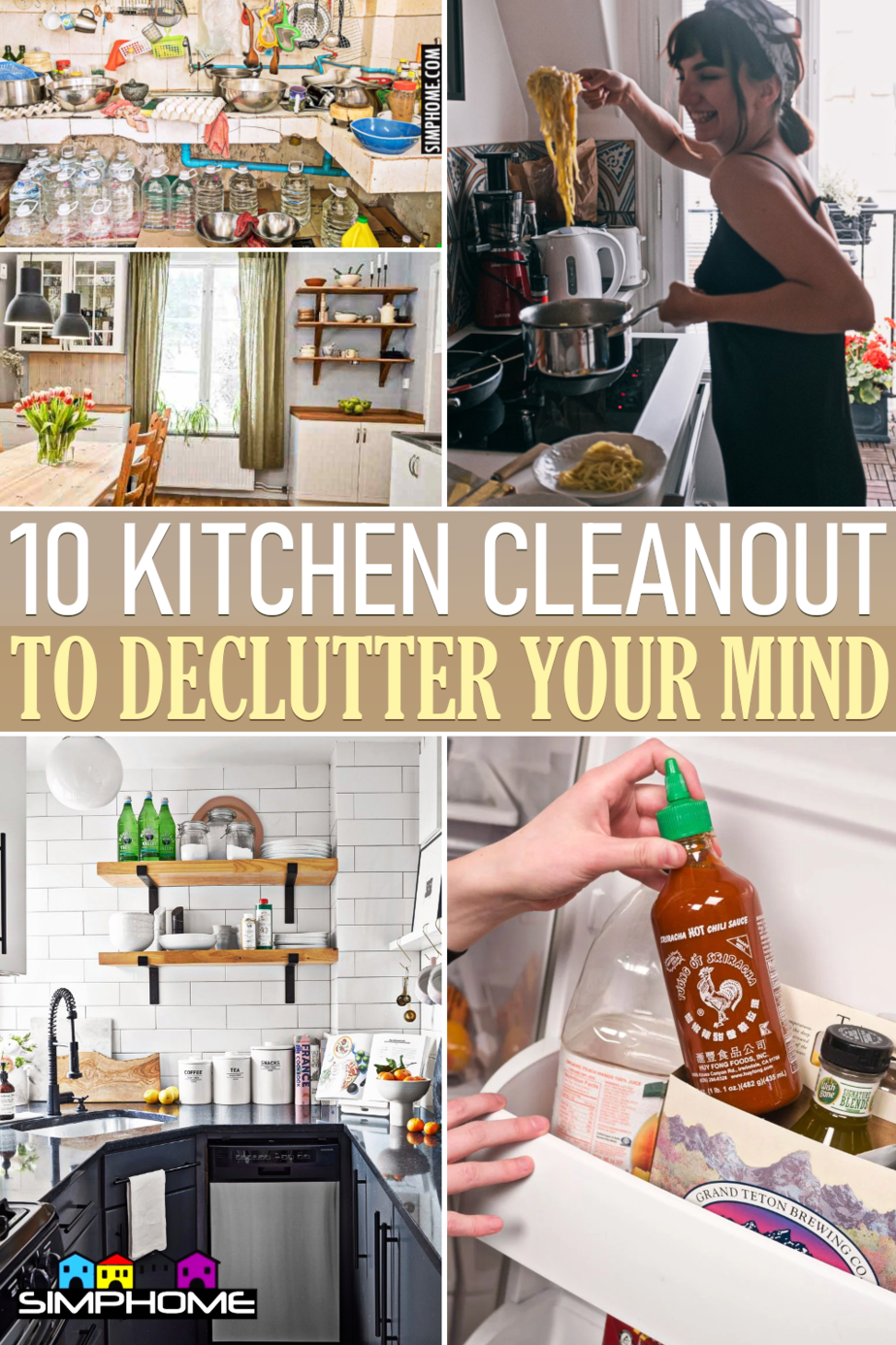 10 Kitchen Cleanout to Declutter your Mind via Simphome.comFeatured