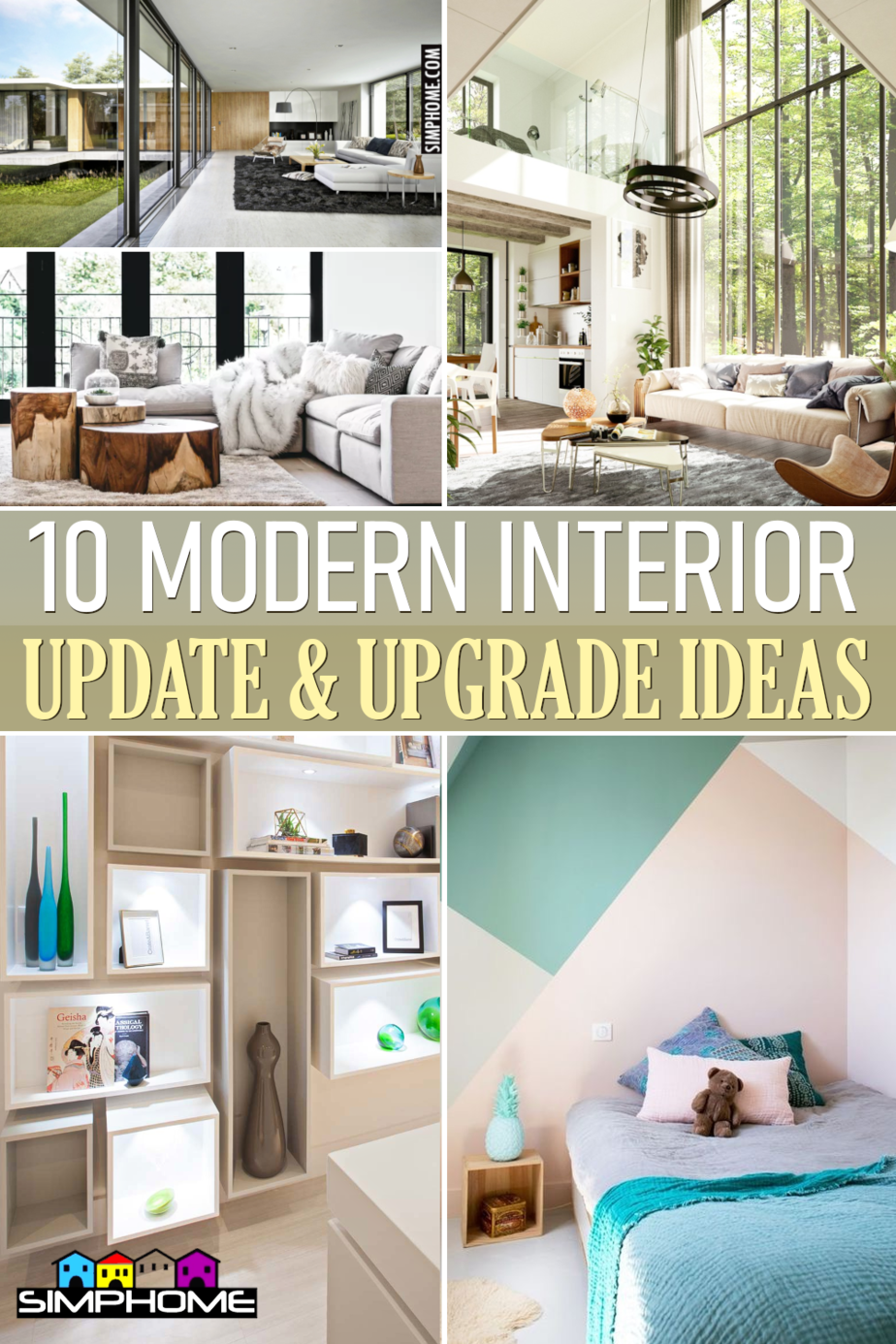 10 Modern Interior Makeover Ideas via Simphome.comFeatured