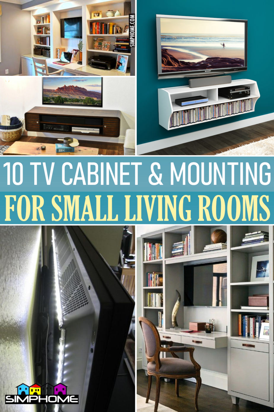 10 TV Cabinet Ideas and Mounting For Small Living Room by Simphome.comFeatured
