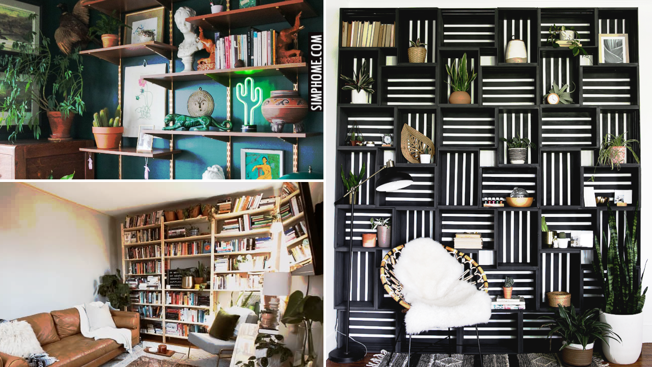 12 Living Room Shelving Ideas via Simphome.comBlog Thumbnail