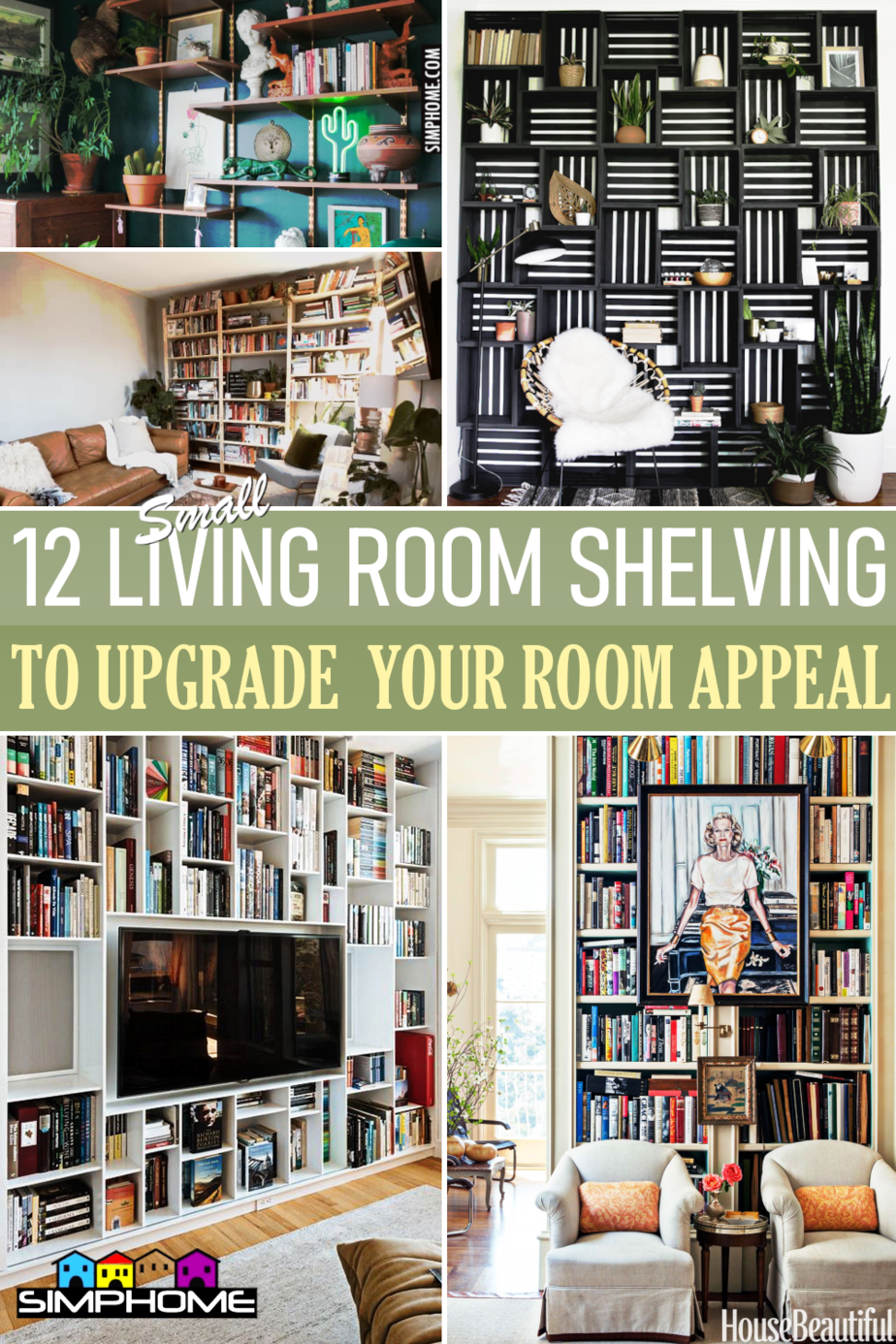 12 Living Room Shelving Ideas via Simphome.comFeatured