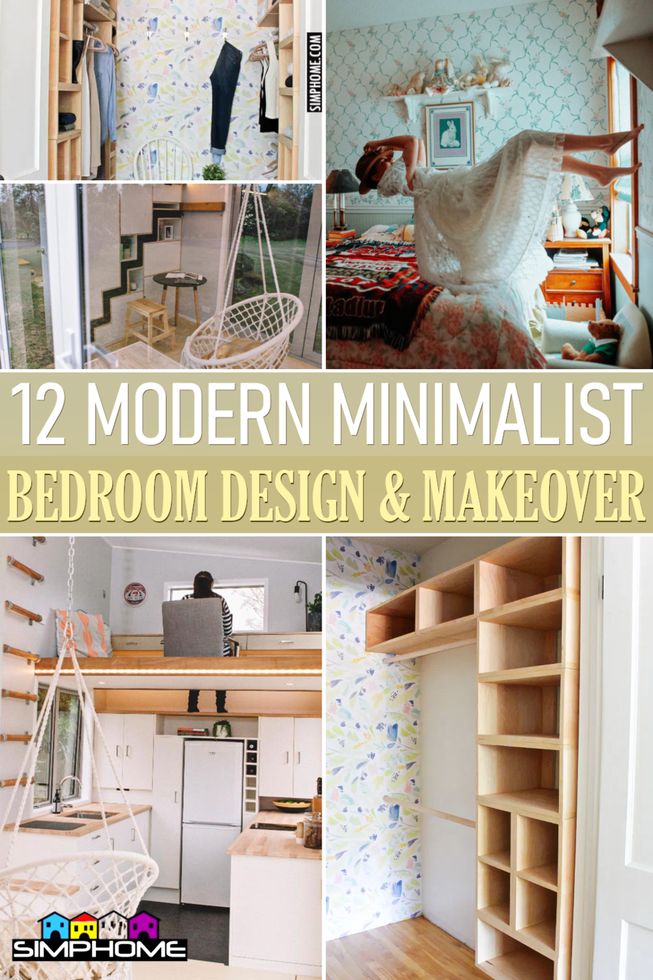 12 Modern Minimalist Bedroom Design And Makeover via Simphome.comFeatured