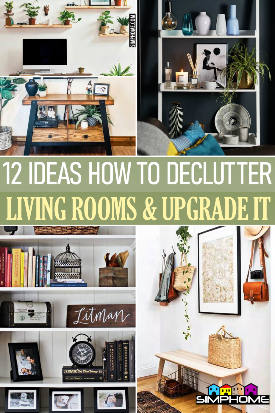 12 ideas how to declutter your living room via Simphome.comFeatured