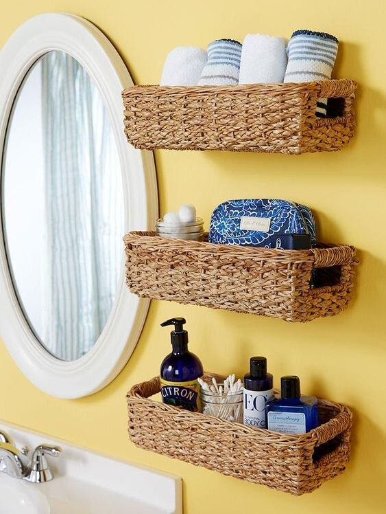2. Floating Baskets Storage by simphome.com
