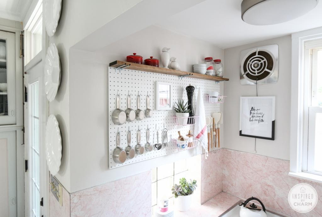 3. Pegboard Kitchen Storage by simphome.com