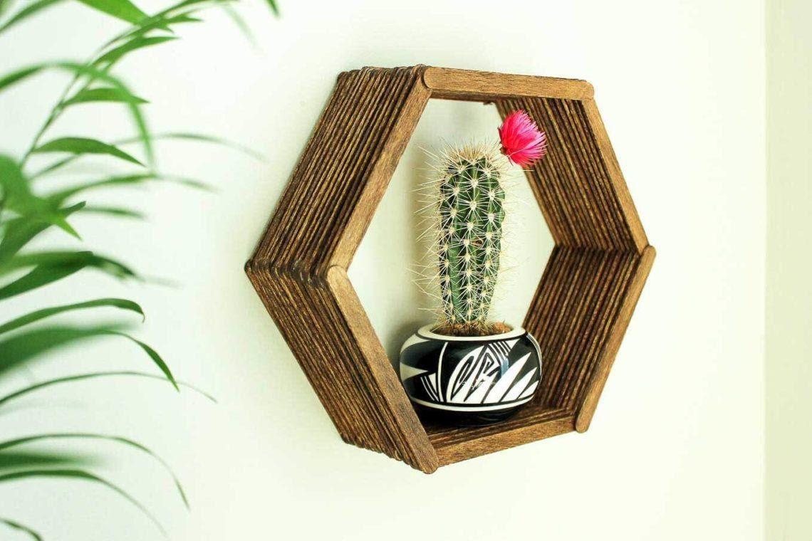 5. DIY Popsicle Shelf by simphome.com