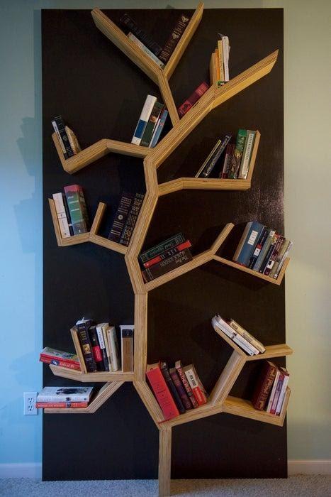 7. DIY Tree Bookshelf by simphome.com