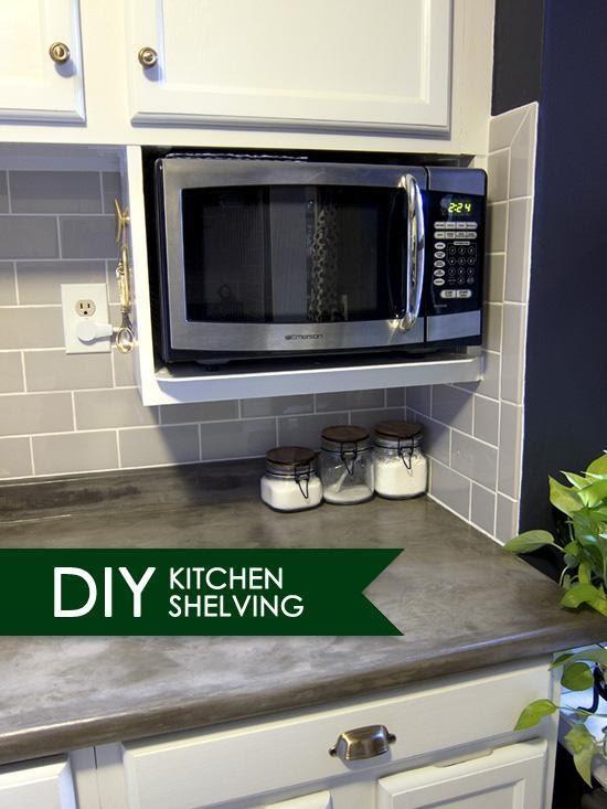 8. Install a Microwave Shelf by simphome.com