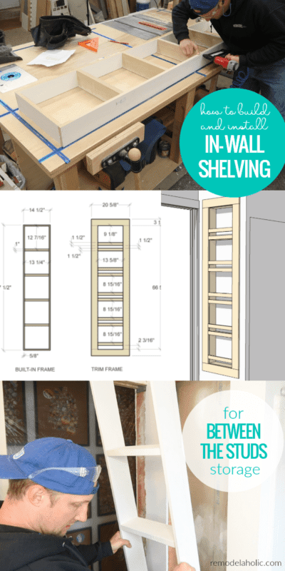 1. DIY built in shelf for small bathroom by simphome.com