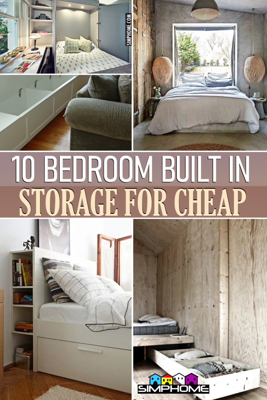 10 Bedroom Built in Storage Ideas via Simphome.comFeatured