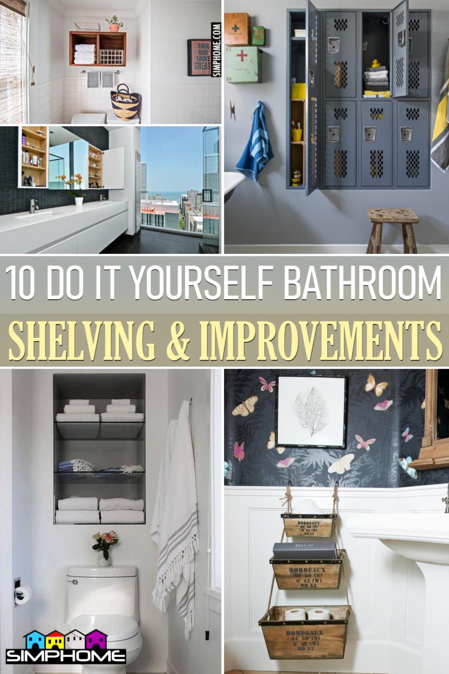 10 Built In Bathroom Shelves via Simphome.comFeatured