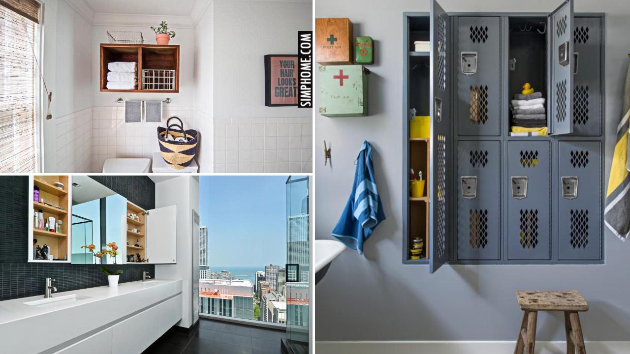 10 Built In Bathroom Shelves via Simphome.comThumbnail