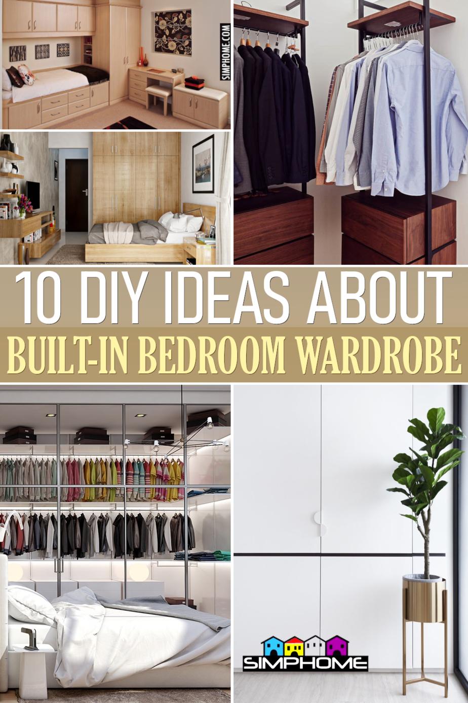 10 Built in Bedroom Wardrobe Ideas via Simphome.comFEATURED