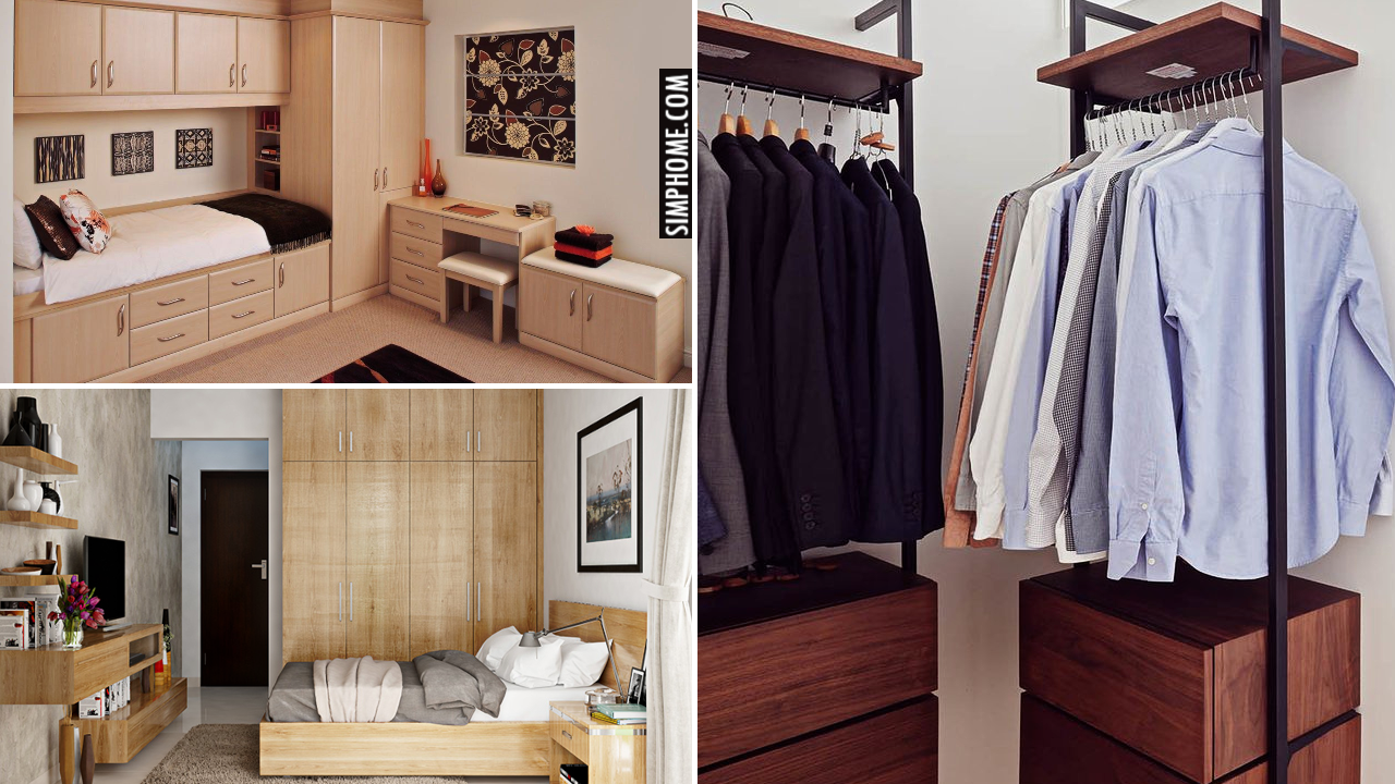 10 Built in Bedroom Wardrobe Ideas via Simphome.comThumbnail
