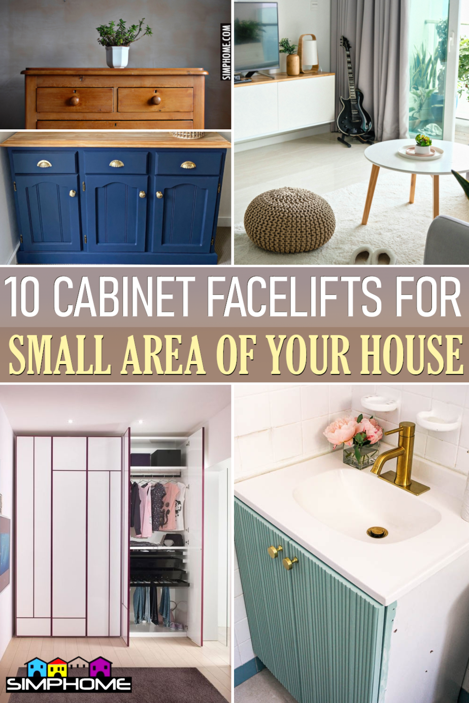 10 Cabinet Facelifts for Small Space via Simphome.comFeatured