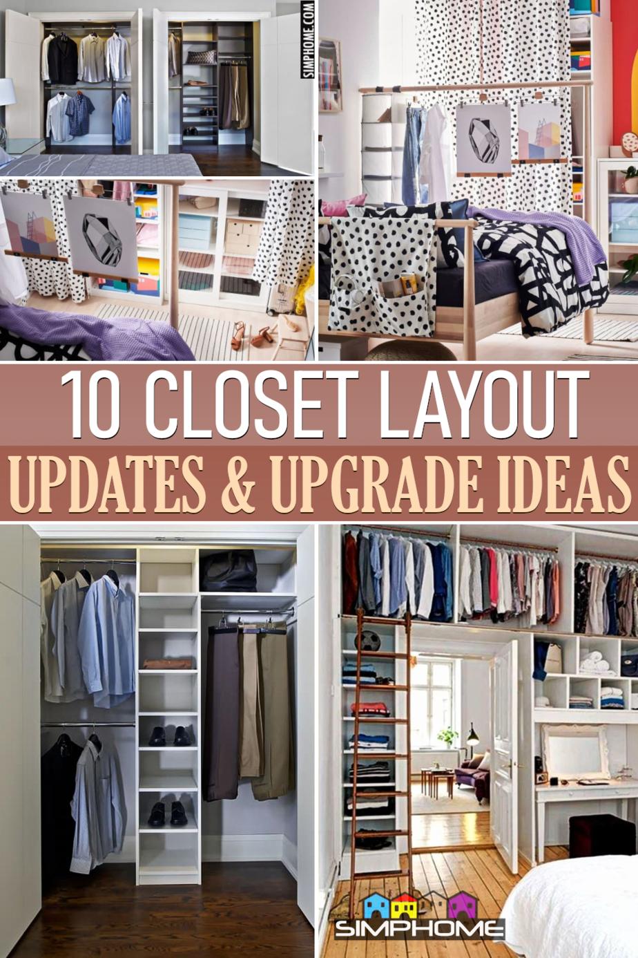 10 Closet Layout Ideas via Simphome.comFeatured