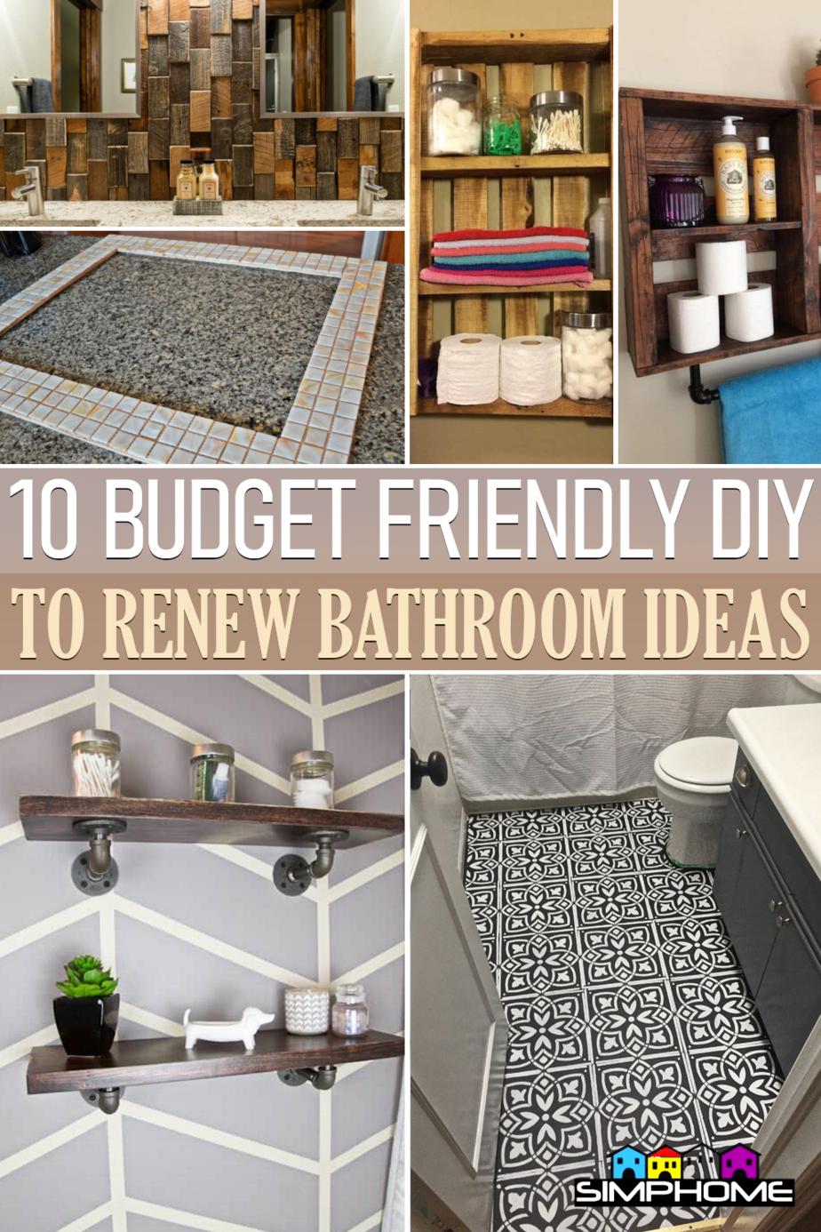 10 DIY Ideas how to renew bathroom via Simphome.comFeatured