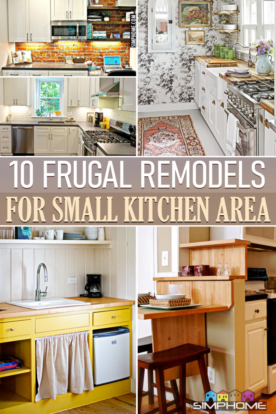 10 Frugal Kitchen Remodels That Can Save BIG via Simphome.comFeatured