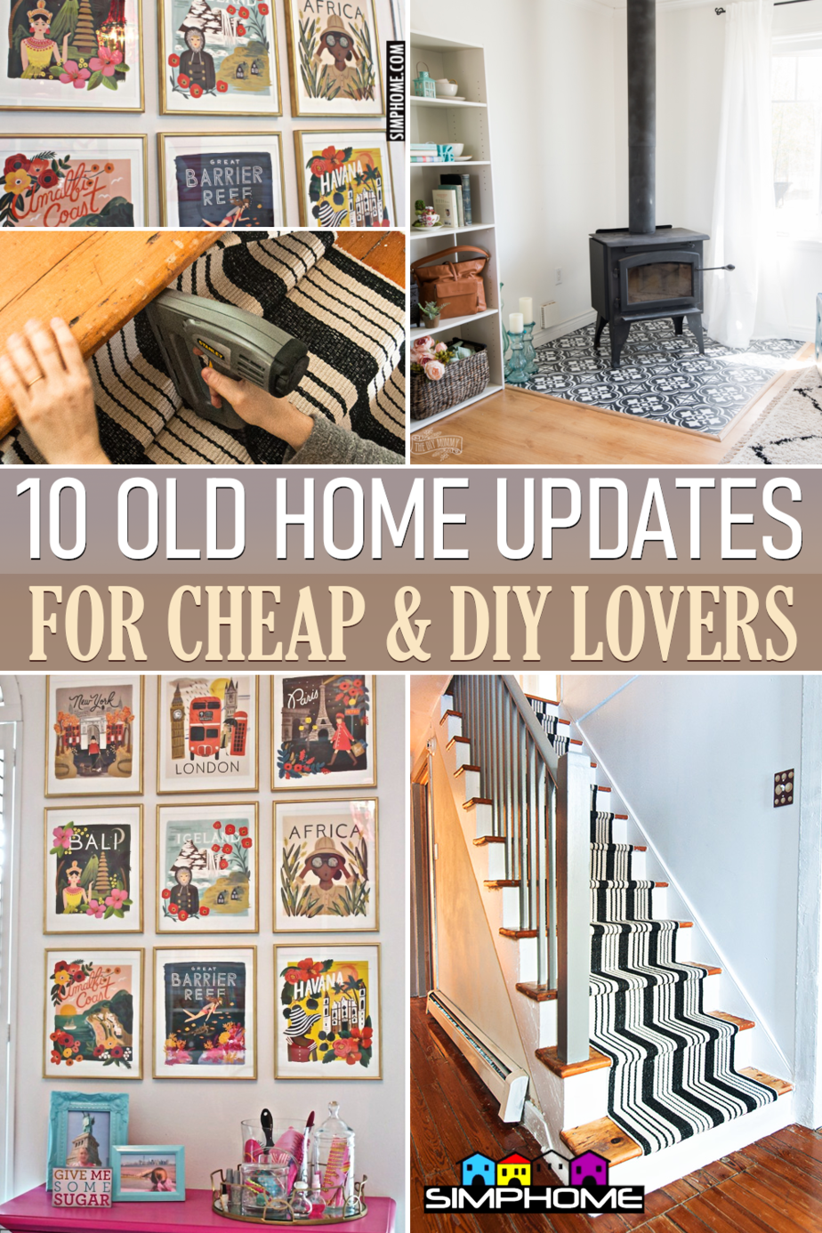 10 Ideas on how to update older homes on a budget via Simphome.comFeatured