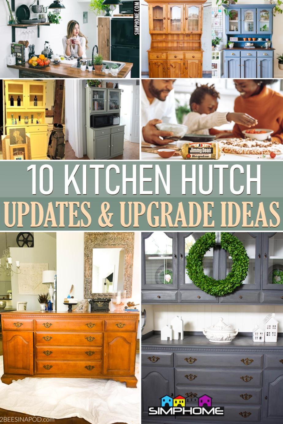 10 Kitchen Hutch Ideas via Simphome.comFeatured