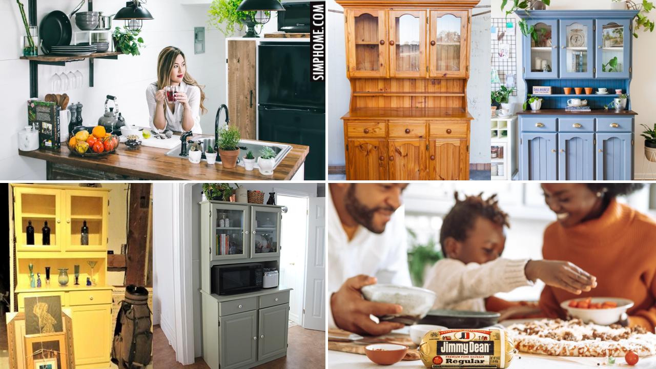 10 Kitchen Hutch Ideas via Simphome.comThumbnail