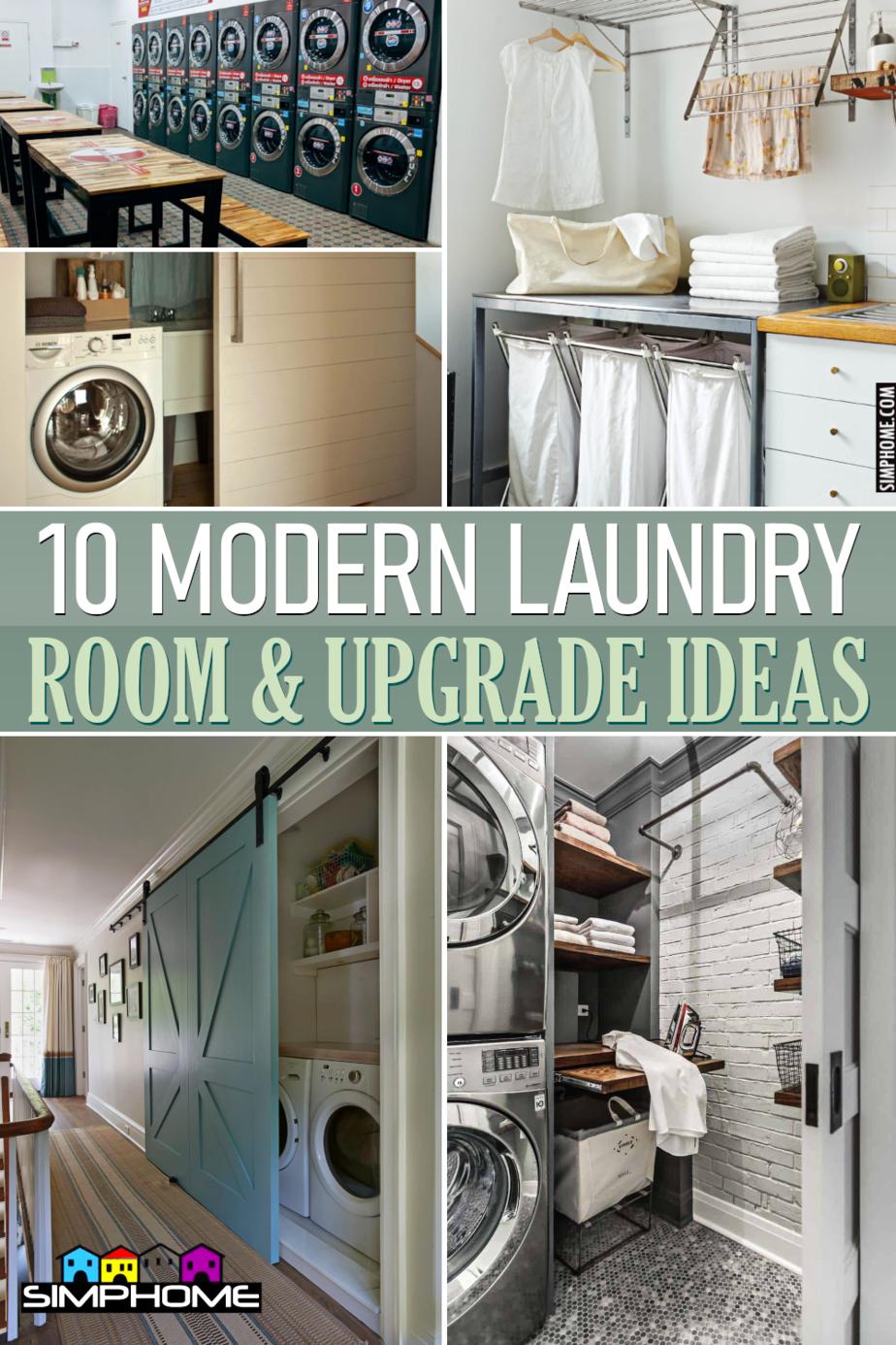 10 Modern Laundry Room Ideas via Simphome.comFeatured