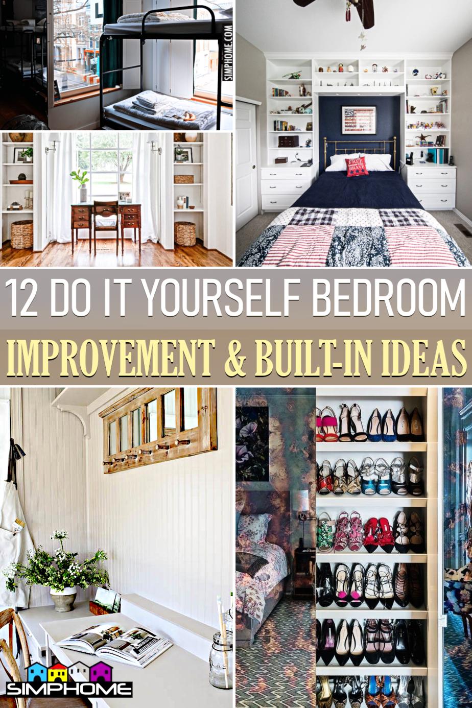 12 Bedroom Built in Ideas via Simphome.comFeatured