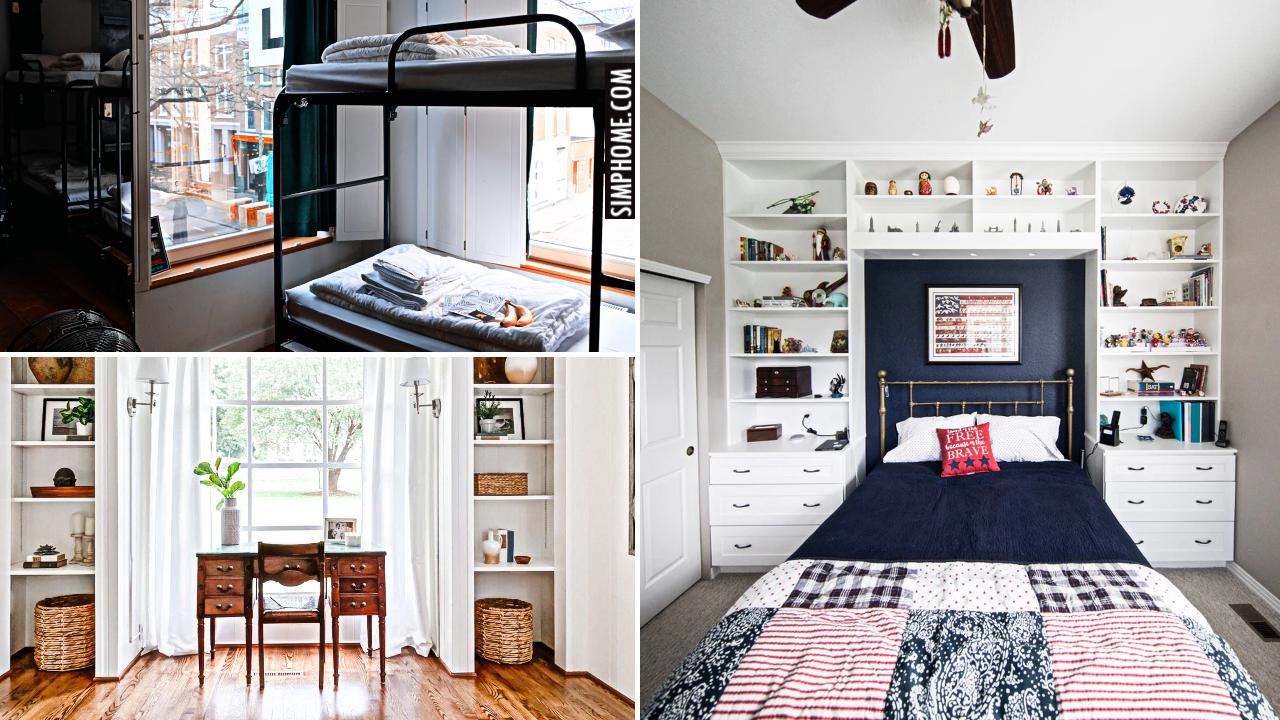 12 Bedroom Built in Ideas via Simphome.comYtThumbnail