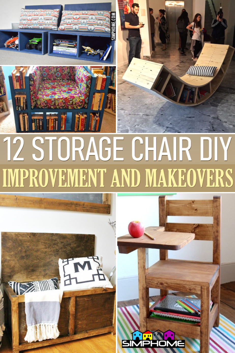 12 Storage Chair DIY Ideas via Simphome.comFeatured
