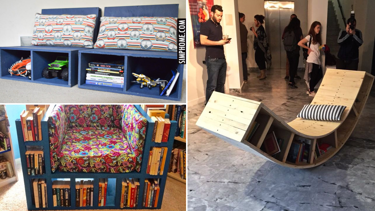 12 Storage Chair DIY Ideas via Simphome.comThumbnail