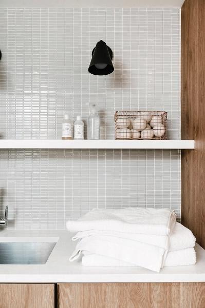 2. DIY Modern Laundry Room Reveal with Semihandmade by simphome.com