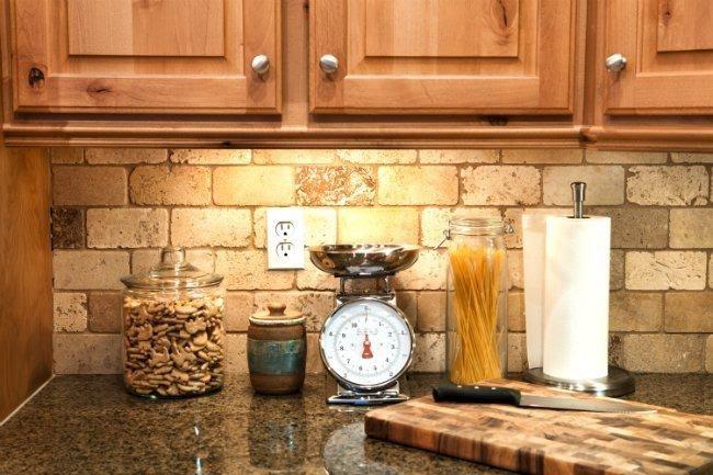 3. Brick Backsplash by simphome.com
