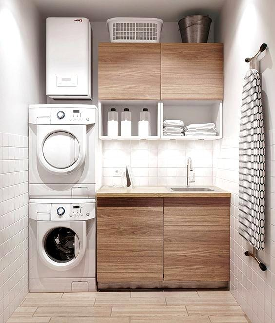 3. Fun and Modern Looking Laundry room by simphome.com