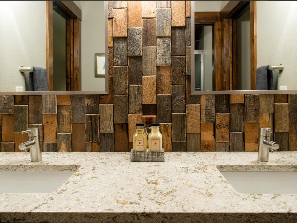 3. Reclaimed Wood Backsplash by simphome.com