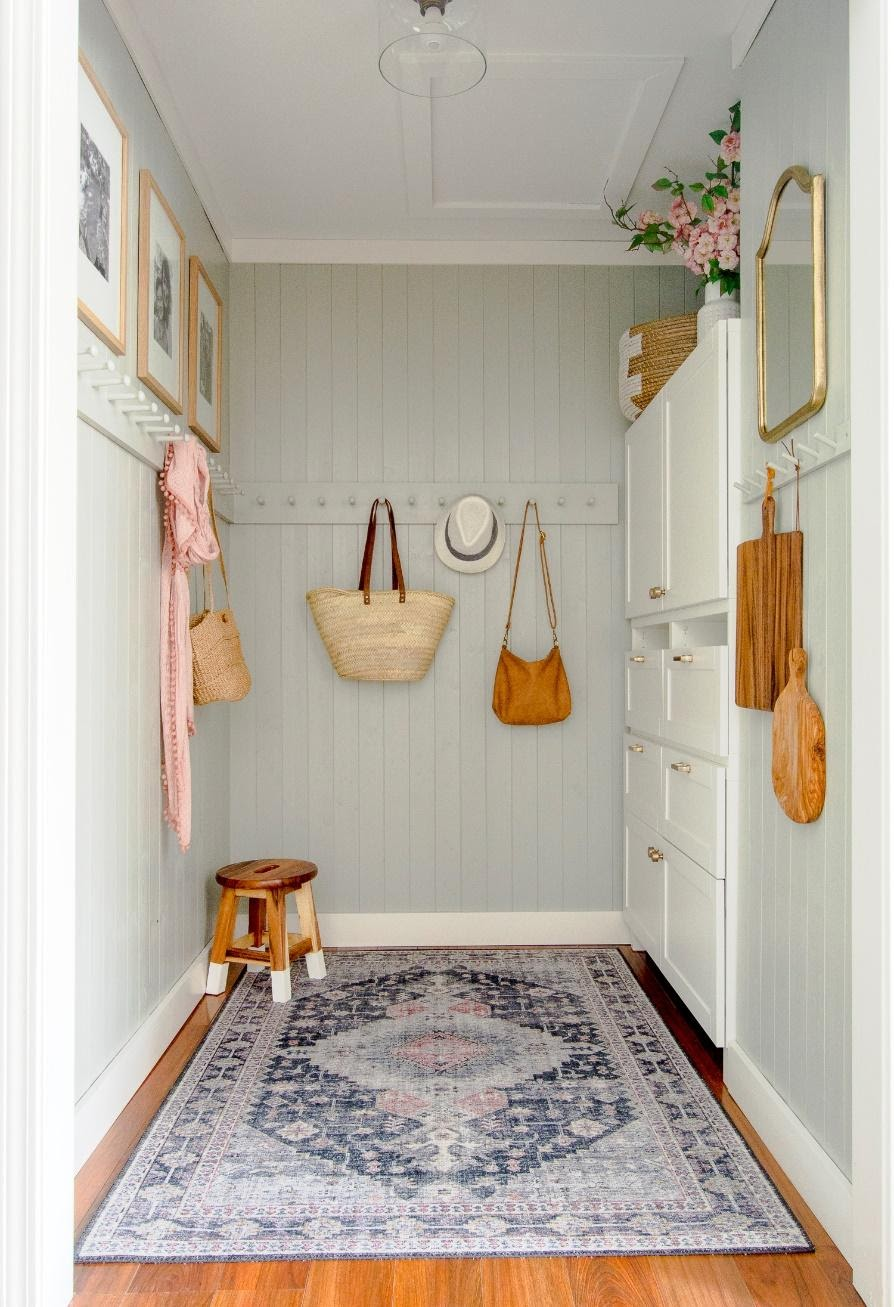 5. Mudroom Makeover with Limited Space by simphome.com