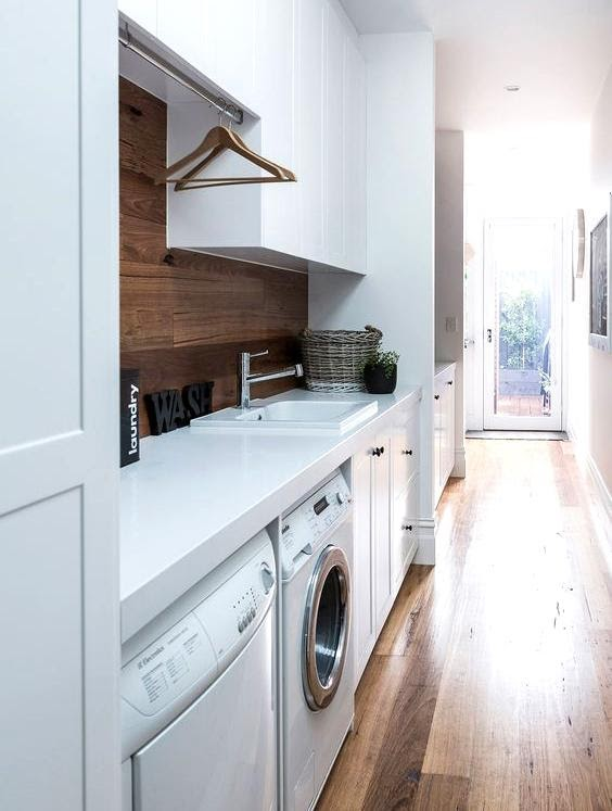 6. Add warmth to the laundry room with the right color palette by simphome.com