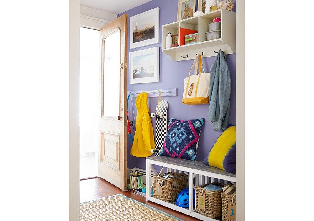 6. Cheerful Mudroom Makeover by simphome.com