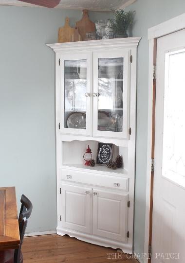 6. Corner Hutch Furniture Makeover by simphome.com .