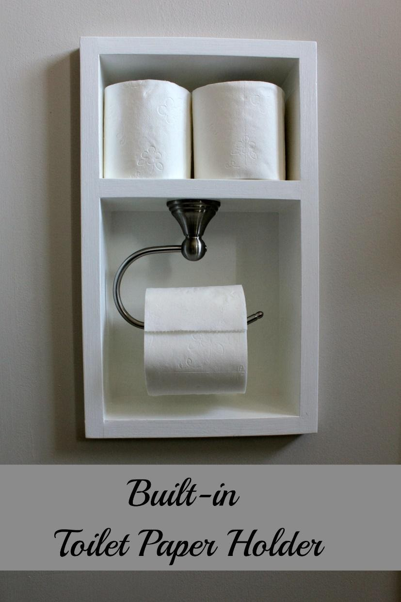 7. Built in Toilet Paper Holder by simphome.com