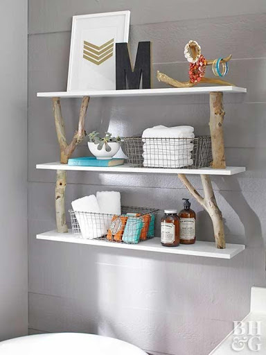 7. Rustic Shelves by simphome.com
