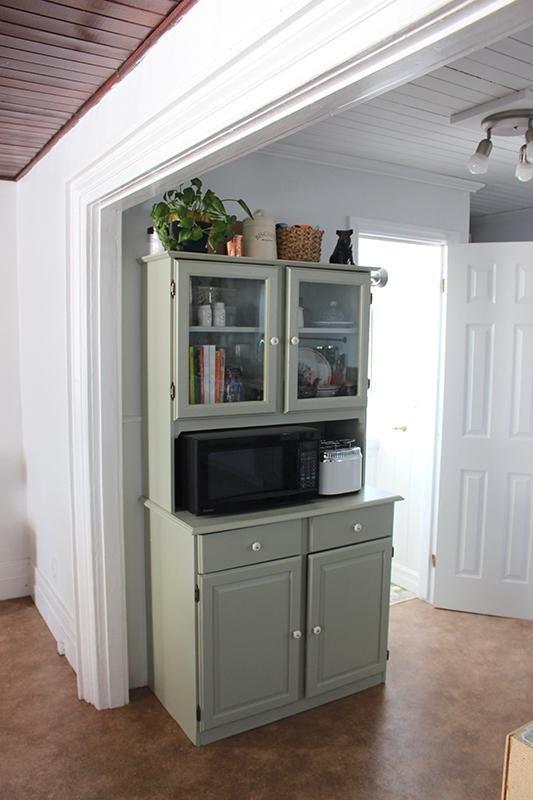 8. Farmhouse Kitchen Hutch Makeover by simphome.com .
