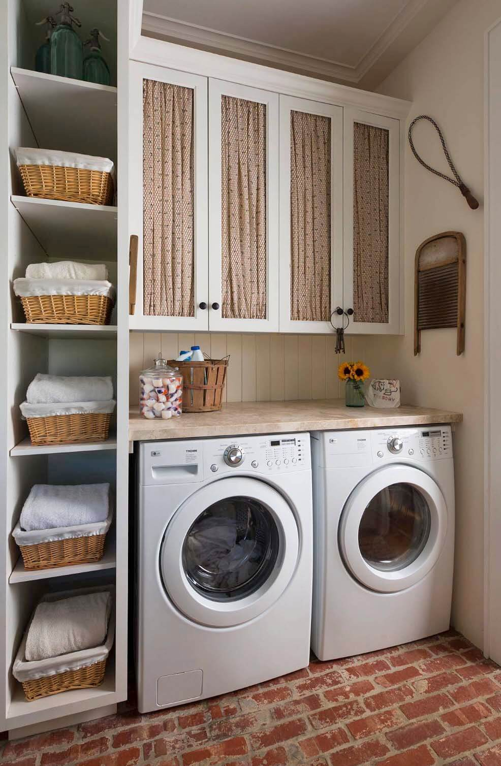9. Old Fashioned Meets Modern Laundry Room Idea via Simphome.com .jpg