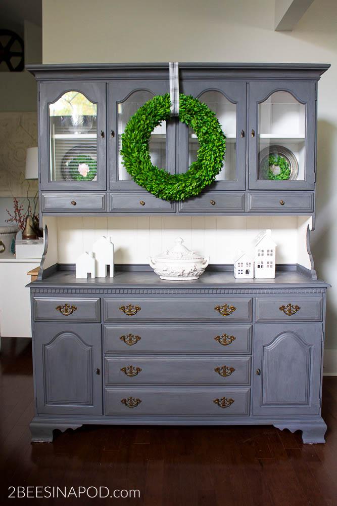 gray painted buffet Simphome.com