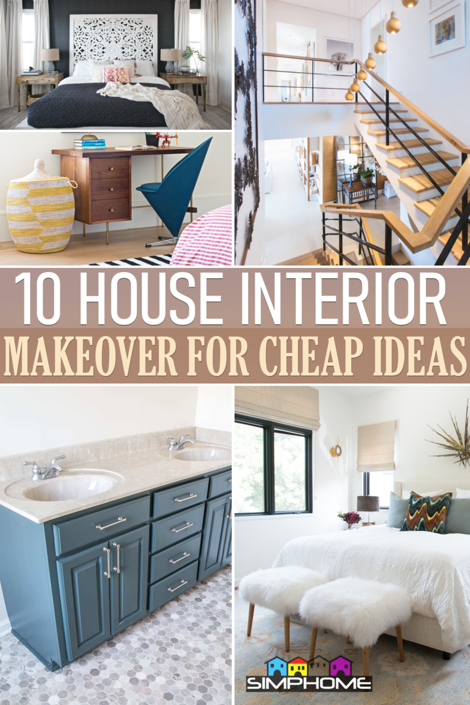 10 How to Update Your House Interior on a Budget via Simphome.comFeatured
